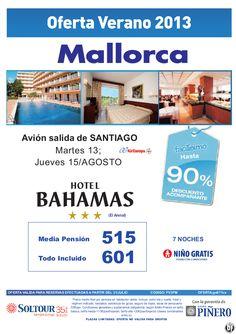MALLORCA, 90% Hotel Bahamas, salidas 13 y 15 Agosto desde Santiago de Compostela - http://zocotours.com/mallorca-90-hotel-bahamas-salidas-13-y-15-agosto-desde-santiago-de-compostela/