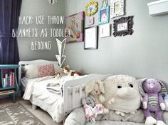 Fast Hacks Friday: Throw Blankets As Toddler Bedding