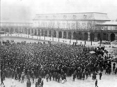Unemployed syndicalists demonstrate at Christiansborg Palace Square. Anarchism, Press Photo, Danish, Palace, Concert, Photos, Pictures, Danish Pastries, Palaces