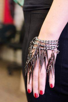 DIY: Punk Spike Bracelet