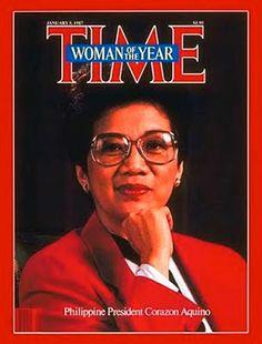 1986: Time magazine's Woman of the Year — Philippine President Corazon Aquino