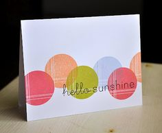 Hello Sunshine Card by Maile Belles for Papertrey Ink (April 2012)