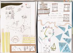 "nearlycurtainss: "" new journal pages from confessional xx "" really lovely colours!!"