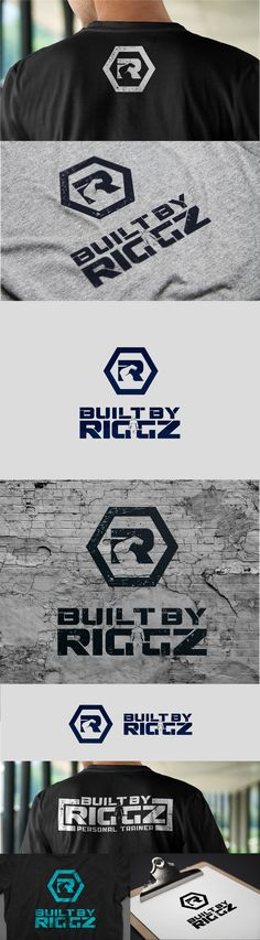 Built By Riggz personal trainer branding.