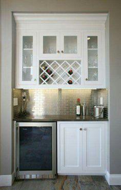Trendy Kitchen Bar Wine Built Ins Ideas House, Kitchen Bar, Home, Built Ins, Basement Remodeling, Home Remodeling, New Homes, Bars For Home, Home Kitchens