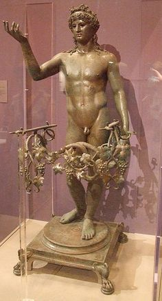 Bacchus bronze statuette - found in the House of Marcus at Pompeii