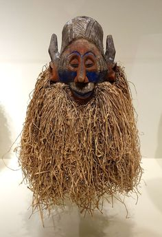 Cap mask, Democratic Republic of the Congo, Yaka peoples, early to mid 20th century, wood, pigment, raffia - Cincinnati Art Museum - DSC04284.JPG