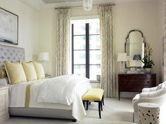 Cottage Blue Designs: Yellow and Gray bedroom