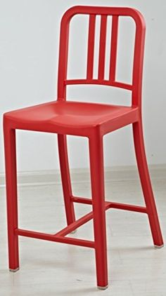 Classic Navy Chair   Bar Stool With Backrest   Set Of Two