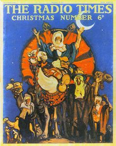 Vintage Magazine Cover - The Radio Times (British) Christmas Number - 21 December 1934 Christmas Cover, Retro Christmas, Christmas Wishes, All Things Christmas, Christmas And New Year, Christmas Holidays, Vintage Advertising Posters, Vintage Advertisements, Vintage Posters