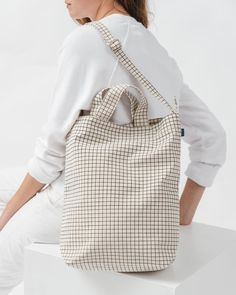 Duck Bag - Natural Grid