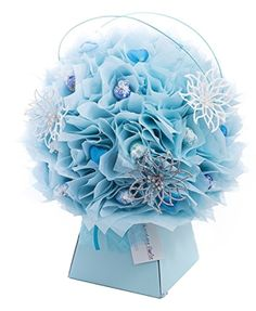 Forget Me Not Chocolate Florist Bouquet. To find out more about our Chocolate Bouquets which are ideal for wedding centre pieces visit www.thechocolateflorist.co.uk