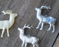 Check out our reindeer ornament selection for the very best in unique or custom, handmade pieces from our ornaments shops. Reindeer Ornaments, Reindeer Christmas, Vintage Christmas, Popular, Handmade, Etsy, Reindeer Decorations, Hand Made, Popular Pins