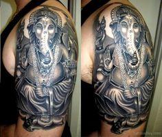 Beautiful Ganesha Tattoo Design photo - 5