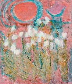 The moon and the sun by ReidarSärestöniemi Abstract Painters, Abstract Art, Pink Art, Figure Painting, Art And Architecture, Landscape Paintings, Illustration Art, Illustrations, Design Art