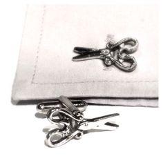 Silver Scissors Cufflinks, Men's Handcrafted Barber Stylist Shears Cuff Links- Mans Hair Cutter / Salon Wedding Guys Groom Gift  from my Etsy shop https://www.etsy.com/listing/497668057/silver-scissors-cufflinks-mens