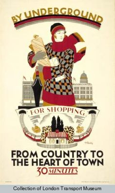 Dora Batty from the country to the heart of town vintage london transport poster 1925 Vintage Advertisements, Vintage Ads, Vintage London, Vintage Style, Vintage Fashion, London Transport Museum, Public Transport, Freight Transport, London Poster