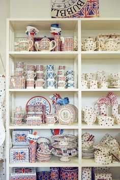Emma Bridgewater Pottery, Living In England, Stoke On Trent, Cool Kitchens, Shelving, Interiors, Dishes, Cool Stuff, Holiday Decor