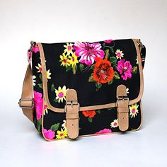 Neon Floral Cross Body Bag by ShaunDesign on Etsy, $30.15