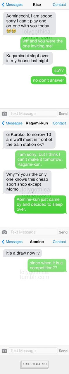 Their rivalry breached another domain. Kagami x Kise and Aomine x Kuroko.