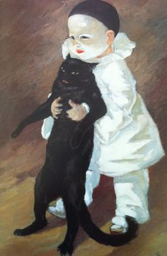 Pierrot et le chat, 1889  oil on canvas  Collection of Petit Palais, Geneva