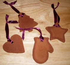 Cute Homemade Christmas Ornaments To Make With Kids : Homemade Star Christmas Tree and Love Shaped Cinnamon Ornament for Kids Christmas Deco...