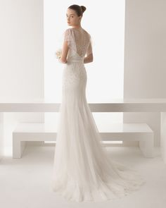 Soft by Rosa Clara Wedding Dresses 2015 Collection. To see more: http://www.modwedding.com/2014/08/02/soft-rosa-clara-wedding-dresses-2015-collection/ #weddings #wedding #wedding_dress