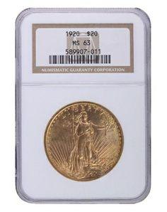 1920 NGC MS63 Saint Gaudens $2270.00