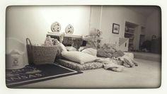 Montessori infant room...wall bar for pre-walking... www.littleorchardmontessorischool.com