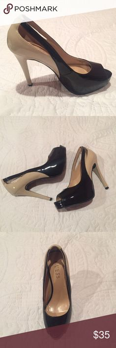 Selling this Guess Patent Leather Pumps on Poshmark! My username is: kathrynorr88. #shopmycloset #poshmark #fashion #shopping #style #forsale #Guess #Shoes