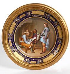 Royal Vienna - Handpainted Plate w/ Gilt Frame