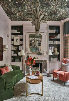 Home Interior Design, Interior Decorating, Colorful Interior Design, Top Interior Designers, Home Design Decor, Interior Paint, Living Room Decor, Living Spaces, Woodland Living Room