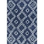 Iola Easy Shag Blue 5 ft. 3 in. x 7 ft. 6 in. Area Rug