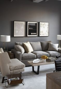 Amazing Decorate Grey Living Room Design Ideas With Grey Sofa And White Rugs Elegant Decorating Grey Living Room Ideas For Your Interior Living Room Grey, Apartment Living, Home And Living, Living Room Decor, Grey Room, Bedroom Decor, Living Room Designs, Living Spaces, Living Rooms