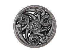 Excellent La Tene Flat Metal Button- I really like these !!!!!