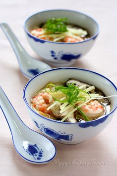 Piggy's Cooking Journal: Steamed Egg with Prawns, Mushrooms & Dried Scallops