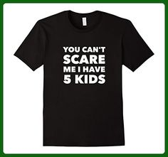 Mens You Can't Scare Me I Have 5 Kids | Funny Fathers Day T-Shirt Large Black - Holiday and seasonal shirts (*Amazon Partner-Link)