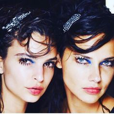 Last night's Marc Jacobs show featured the lovely @emrata and @adrianalima hair by @guidopalau make up Francois Nars hair pieces by @aislingludden casting by @bitton by kegrand