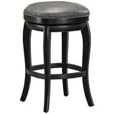 """American Heritage Madrid Black Swivel 26"""" Counter Stool  with Charcoal seat - $269"""