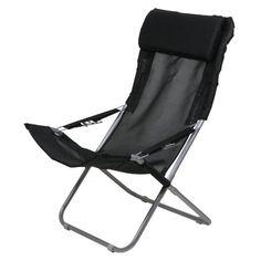 10T Maxi Chair - Camping-Stuhl Relax Hochlehner mit Kopfpolster 4-fach verstellbar faltbar 10T Outdoor Equipment