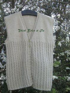 photo tricot modele tricot gilet sans manche femme gratuit 9