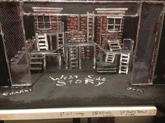 West side story set design model by Cody Rutledge