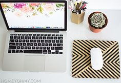DIY gold mouse pad | Homey Oh My!