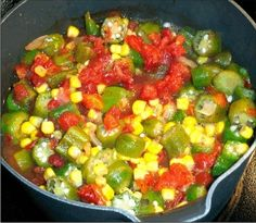 The best Okra, Corn and Tomatoes Recipe