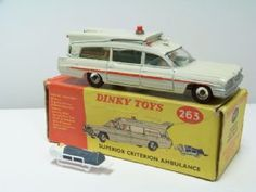 Dinky Toys Superior Criterion Ambulance complete with patient