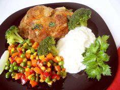 Piure de ţelină cu legume şi ceafă de porc