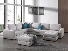 LEGRO - Superbe salon d'angle en tissu, possible avec un pouf. Parfait pour embellir votre intérieur   Meubles Nikelly