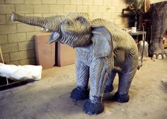 """And here is the baby La Brea Tar Pit Mammoth crying for its mother, sculpted for the feature film, """"Volcano"""" starring Tommy Lee Jones, Anne Heche and Don Cheadle. Sculpted by Brian """"Brizzi"""" Cole and Blaise Gauba of Brizzi Cole Studios, Van Nuys, California in summer of 1996.  https://www.etsy.com/shop/BlaiseGaubaSculptor?ref=si_shop  https://www.facebook.com/BlaiseGaubaSculptor/photos_stream"""