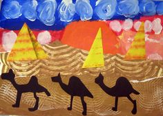Cassie Stephens: In the Art Room: Hump Day Line Art Lesson, Multicultural Crafts, Primary School Art, Art School, Egypt Crafts, Cool Art Projects, Diy Projects, Project Ideas, Cityscape Art