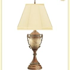 "Found it at Wayfair - Fossil Stone Loving Cup Metal 31"" H Table Lamp"